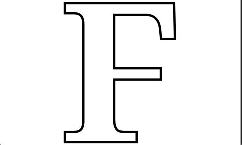 Capital F Coloring Page 5 best images of large printable letter f large letter f