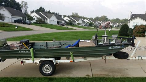 bowfishing jon boat for sale 1848 flat bottom jon boat w everything you need to bowfish