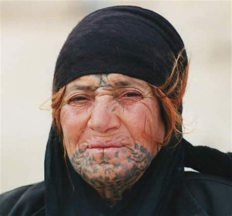 muslim face tattoo modern day bedouin woman with traidtional facial tattooss