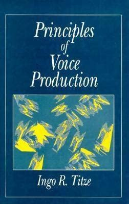 documentary editing principles practice books principles of voice production by ingo r titze reviews