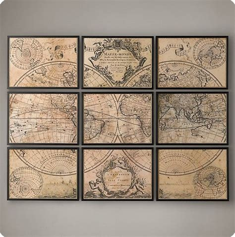 map wall decor framed panel map on a dime