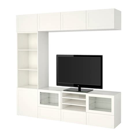 besta tv storage combination best 197 tv storage combination glass doors hanviken