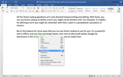 Word Lookup Office 2016 S Smart Lookup Is The Next Best Thing To A Personal Research Assistant
