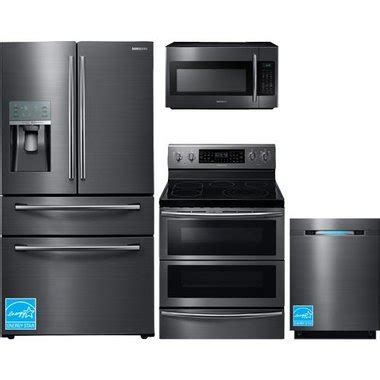 stainless steel kitchen appliance package sale samsung rf28jbedbsg black stainless steel complete kitchen