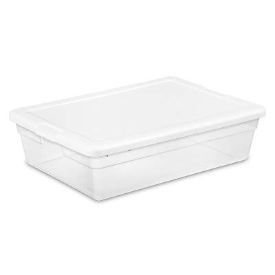 The Bed Storage Bins by Sterilite 174 Clear Plastic Bed Storage Bin Clear With