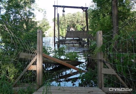 souris swinging bridge souris swinging bridge being rebuilt chrisd ca