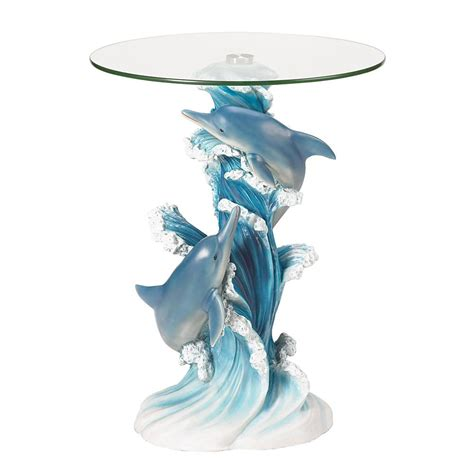 Dolphin Home Decor by Playful Dolphins Accent Table Wholesale At Koehler Home Decor