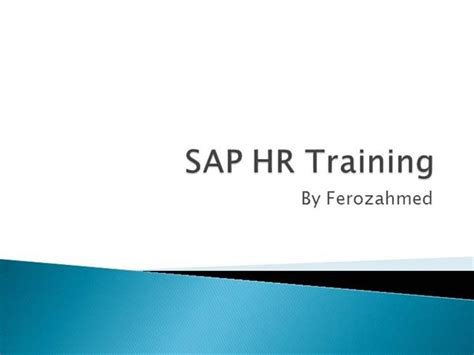 Sap Courses For Mba Hr by Sap Hr Authorstream