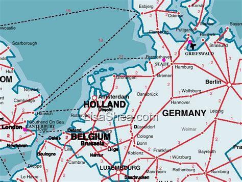 map germany netherlands northern europe trip 2003 uk belgium germany