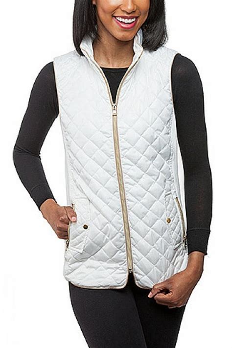 White Quilted Vest by Top It White Quilted Vest From Richmond By Trend