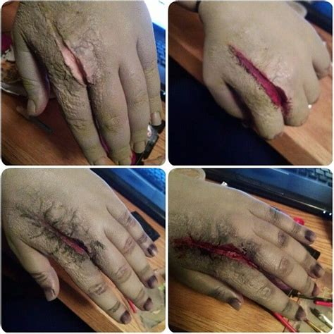 Tutorial Fx Wax | bloody makeup gore makeup horror makeup liquid latex