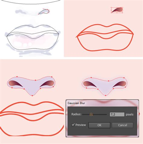 illustrator nose tutorial step 2