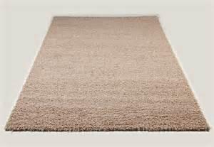 tapis shaggy beige de salon vasco 2