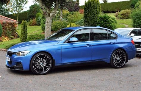 bmw f30 320d m sport in estoril blue in toomebridge