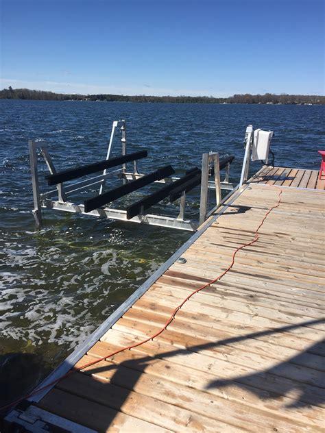 best pontoon boat lifts vertical boat lifts pontoon boat lifts r j machine