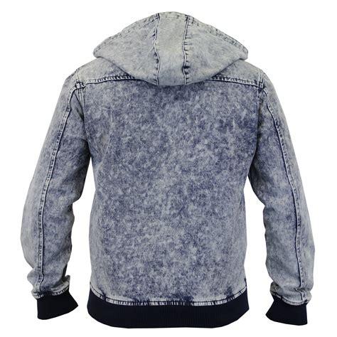 Acid Jacket mens acid wash denim hooded jackets by brave soul ebay