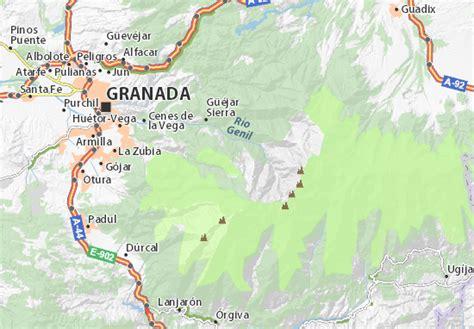 map 9083 granada michelin carte d 233 taill 233 e pradollano sierra nevada plan pradollano sierra nevada viamichelin