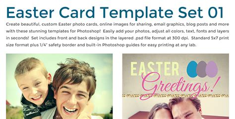 easter card templates for photoshop easter card template set photobacks
