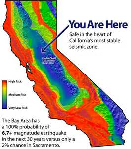 quake map california california map