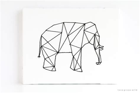 geometric line art tutorial geometric stitched animal art love grows wild