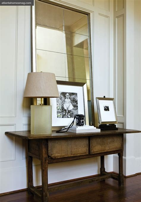 Hallway Table With Mirror Antique Console Table Transitional Entrance Foyer Atlanta Homes Lifestyles