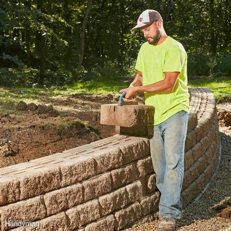 build  long lasting block retaining wall family handyman