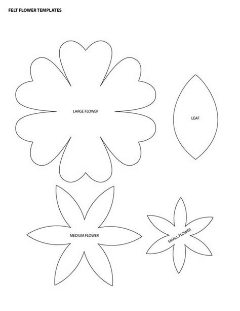 felt flower template diy crafts pinterest search