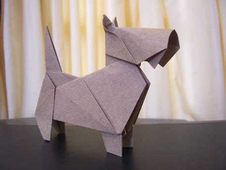 Origami Scottie - origami scottish terrier by arturoeduardo on deviantart