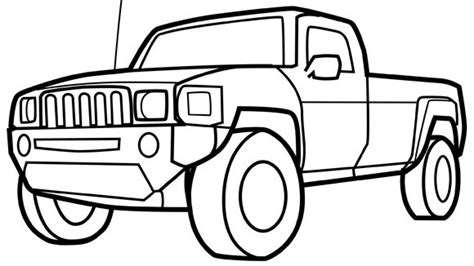 coloring book pages truck truck grandparents