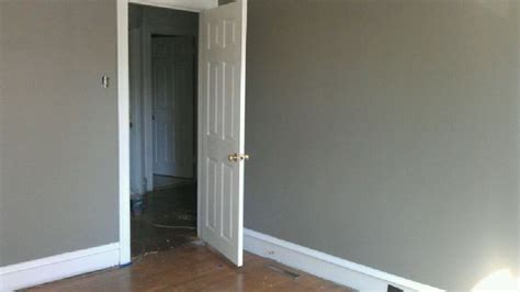 we ended up choosing behr elephant skin gray for guest we gray and behr