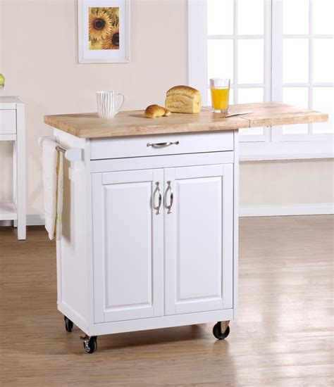 expandable movable kitchen islands with storage and metal