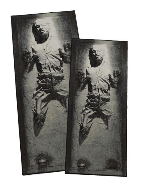 han carbonite rug wars han in carbonite rug thinkgeek
