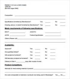 evaluation form templates word product evaluation 7 free documents in pdf