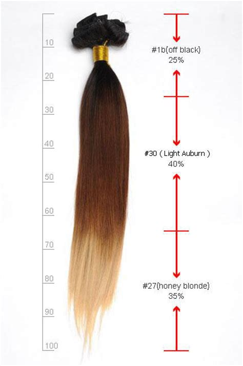 1 inch of hair 16 inch bright ombre clip in indian remy hair extensions