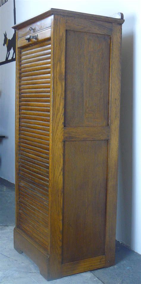 Tambour Door Cabinet 1920s Oak Tambour Door Cabinet
