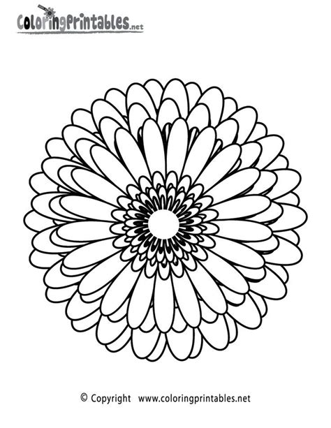 abstract flower coloring pages free coloring pages for