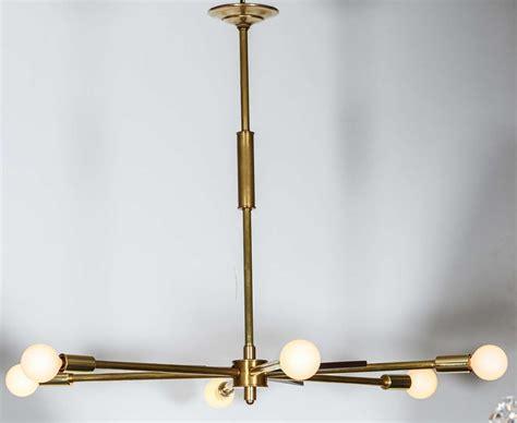 sputnik light fixture vintage wood and brass sputnik light fixture at 1stdibs
