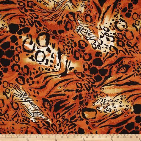 Animal Print Quilting Fabric skins animal print orange black