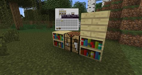 wood varied bookshelves suggestions minecraft java
