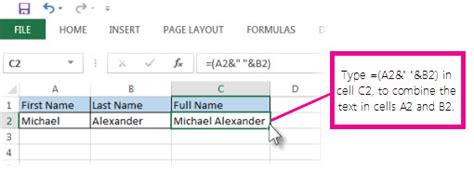 how to combine single and two column formats on the same combine text from two or more cells into one cell in excel