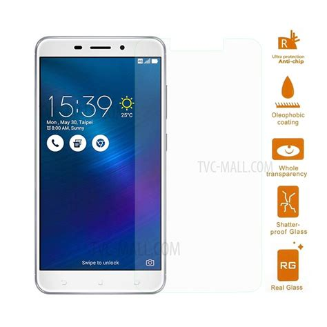 Tempered Glass Kingkong Asus Zenfone 3 Laser Zc551kl 0 3mm tempered glass screen protector guard for asus zenfone 3 laser zc551kl arc edge tvc