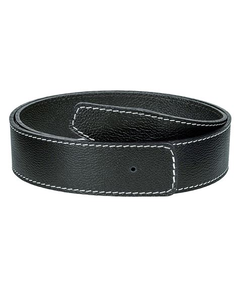 buy soft black h belt leatherbeltsonline