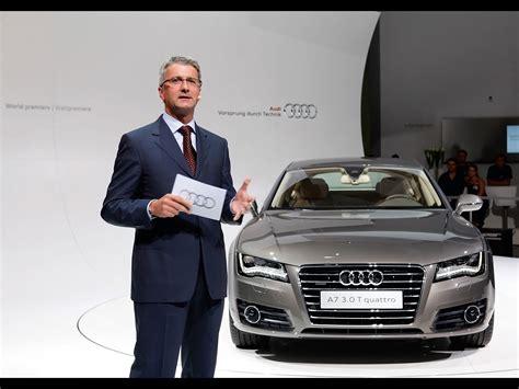 Audi Stadler by 2011 Audi A7 Sportback Rupert Stadler Chairman Of The