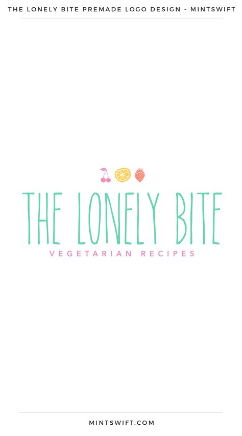 The Lonely Bite Premade Logo Mintswift Premade Logo Templates