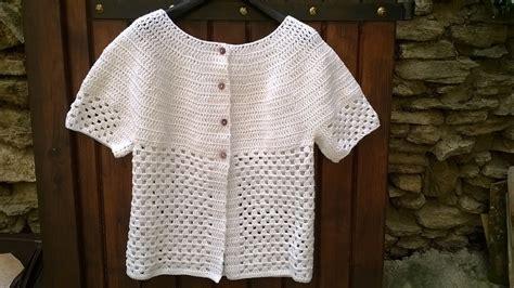 Modele Gilet Sans Manche Femme Au Crochet tuto gilet femme manches courtes au crochet laines