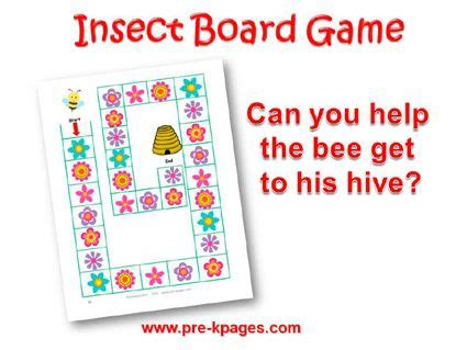 printable language arts board games insect literacy homeschool activities and language