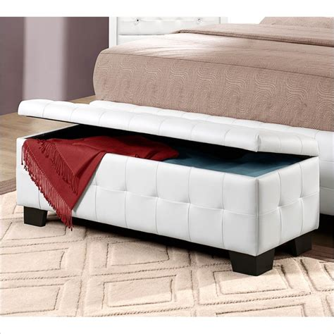 white bench ottoman storage ottoman bench white home design ideas