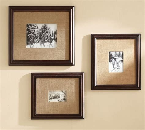 diy picture matting burlap matting