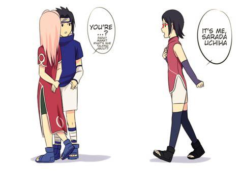 naruto dan hinata hot buat anak sarada met her parents in the past part 3 sasuke x