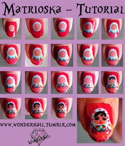 russian nail art tutorial 416 best babuska matroesjka russian dolls images on